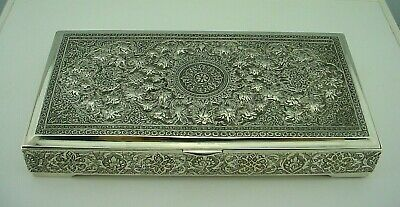 Antique Persian Isfahan Sterling Silver Box