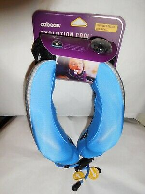 New Cabeau Evolution Cool Memory Foam Neck Pillow + Air Vents + Washable + Bag
