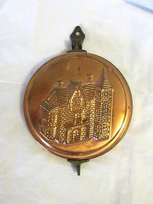 Vintage Copper Brass Mold Wall Hanging Hidden Keys Holder