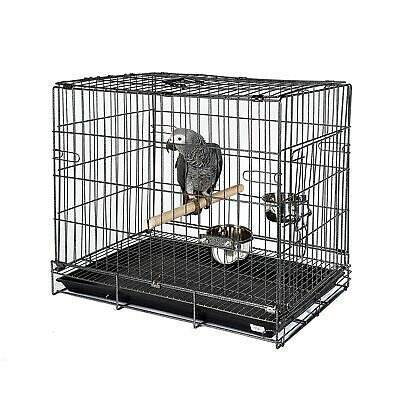 Bird Parrot / Parakeet Travel Carry Cage African Grey Amazon Eclectus Cockatoo
