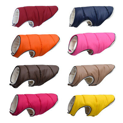 Large Cold Winter Dog Pet Coat Jacket Vest Warm Outfits Clothes for Small Medium
