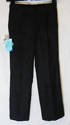 NEW! John Lewis Black Adjustable Waist Pleat Fronted School Trousers Age 8 Years