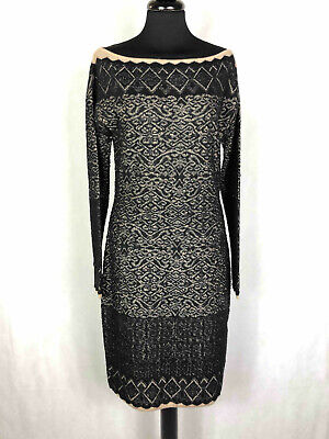 LIU JO Abito Vestito Donna Lana Pizzo Lace Wool Woman Dress Sz.S - 42