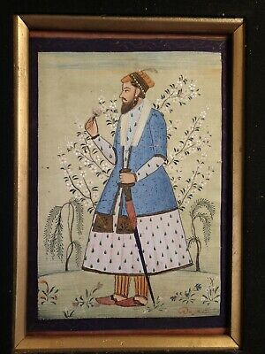 Antique Signed Japanese ? Chinese ? Asian ? Arabic ? Painting On Canavas