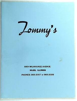 1960's TOMMY'S RESTAURANT Laminated Dinner Menu Niles Illinois