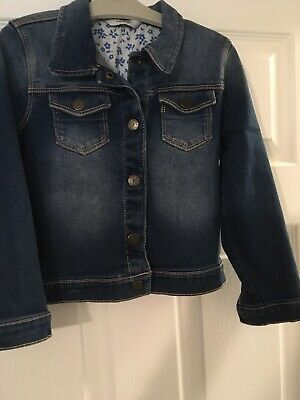 George Girls Blue denim jacket 4-5 years GD CONDITION