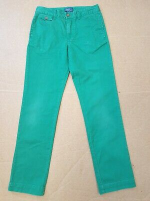 L539 Boys/Girls Ralph Lauren Green Tapered Leg Denim Jeans Age 12 Years W26 L27