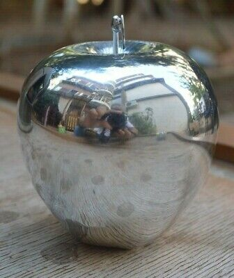 Ilias Lalaounis Jewelry Sterling Silver Apple Fruit Hallmarked Paper Weight