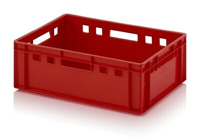 Fleischkasten E2 60x40x20 Euro Meat Box Red Stackable Eurobox 600x400x220
