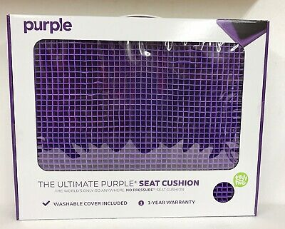 New Purple Ultimate Seat Cushion Gel Pad Car Office Chair Portable Xl Large Big
