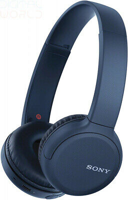 Sony Wh-CH510 Wireless Headphones, 35 Hours Battery Life with Quick blue