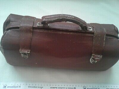 Antique Medical Doctor`s Case Leather Medicine Doctor Bag