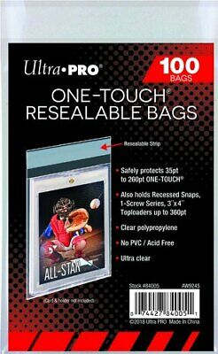 Ultra Pro One-Touch Resealable Bag (100 per pack)