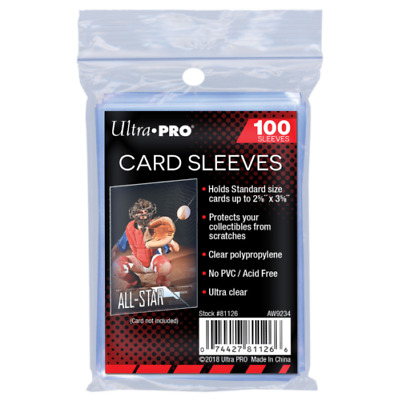 Ultra Pro Card Sleeves - (100 per pack) Penny Sleeves Standard Size