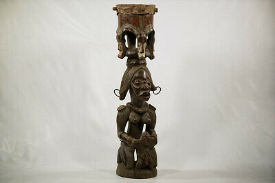 Fang Style Hand Carved African Drum 42"