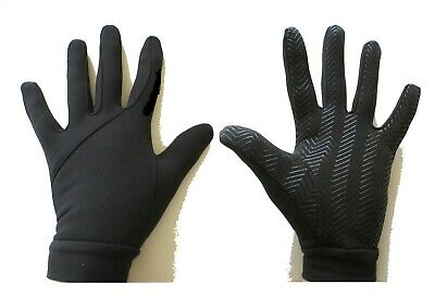 New Football Outfield/Field Player Thermal Fleece Lined Grip Gloves Kids/Junior.