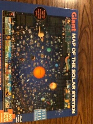 Giant map of the Solar system 300 large piece puzzle
