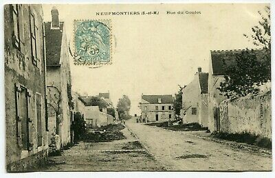 CPA - Carte Postale - France - Neufmontiers - Rue du Goulot - 1905 (I10073)