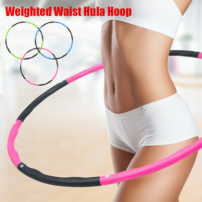 Collapsible 1KG Weighted Padded Hula Hoop Fitness Exercise Gym Workout Hoola UK