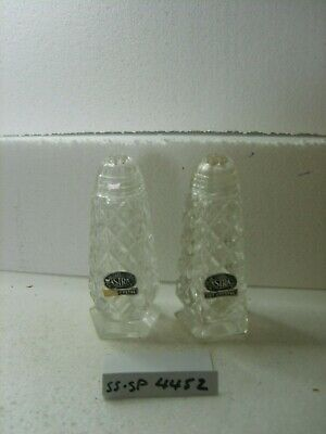 astra cut crystal  salt and pepper shakers
