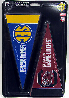 "SEC Mini Pennant Set NCAA Teams (14) 4""x 8 3/4"" Southeastern Conference"