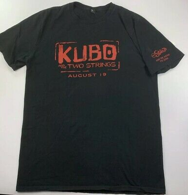 KUBO and the Two Strings AMC Theaters Employee Movie Promo Black T-shirt Tee L