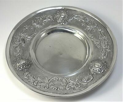 Vintage hallmarked US Sterling Silver Coaster / Dish (Hand Chased)–c1950  (127g)