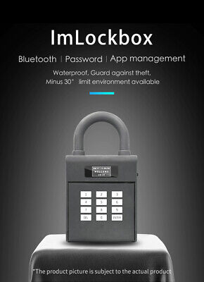 Bluetooth Lockbox Electronic Lock box Key Storage, Remote Access via Mobile App