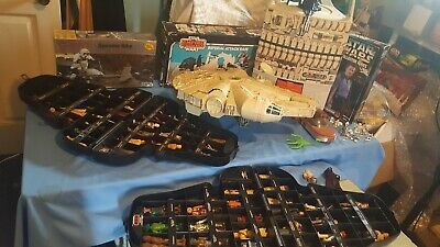KENNER VINTAGE ORIGINAL STAR WARS FIGURES (HUGE) LOT 97 Weapons,CASE,SHIP  SALE