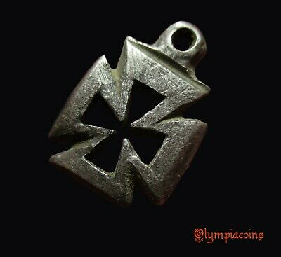 ** REMARKABLE  ** Small Ancient Byzantine SILVER  ** CROSS  ** pendant