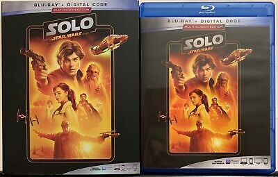 Solo A Star Wars Story Blu Ray + Slipcover Sleeve Multi-Screen Edition Buy It