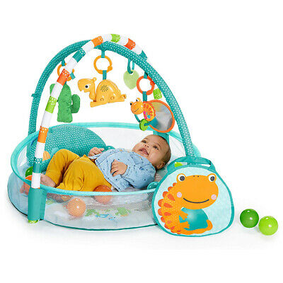 Bright Starts Rounds Of Fun Baby Infant Activity Play Gym/Pit w/10 Balls/Toy 0m+