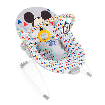 Bright Starts Mickey Mouse Happy Triangles Infant-Toddler Vibrating Rocker 0m+
