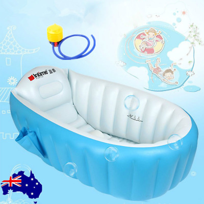 Inflatable Baby Tub Travel Bath Child Newborn Swimming Shower Kids Portable OZ