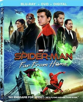Spider-man: Far From Home (Blu-ray, DVD, Digital, w/Slipcover, 2019) New