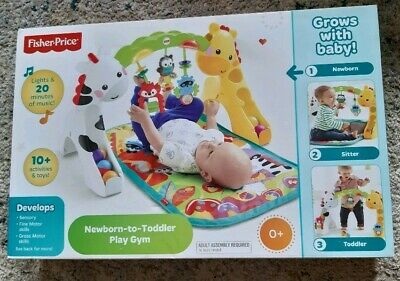 Fisher Price Baby play Gym mat lights toys Activity Newborn toddler ccb70
