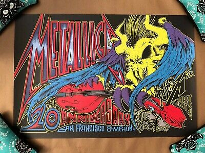 Metallica S&M2 San Francisco Fillmore Concert Gig Poster Show Edition By Squindo