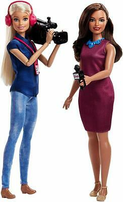 Barbie TV News Anchor and Camera Woman Twin Doll Pack