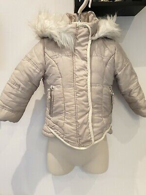Girls Next Furry Hooded Coat, Age 3 Years, Very Warm