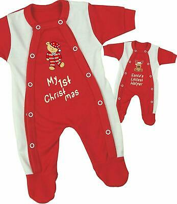 BabyPrem Premature Baby 1st Christmas Clothes Tiny Sleepsuit Outfit 1.5-7.5lbs