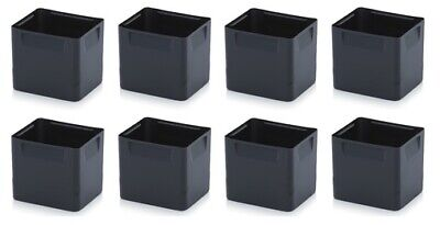 Auer Bins 8-er Set for 60x40 Euro Containers 15cm Height Inserts Black