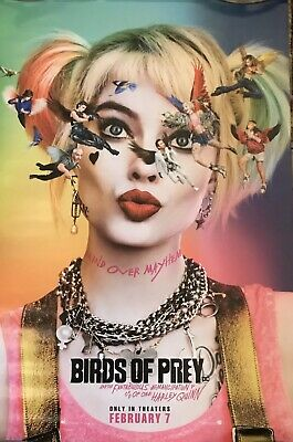 BIRDS OF PREY- HARLEY QUINN MOVIE POSTER AUTHENTIC ORIGINAL 27x40- VERY RARE!!!!