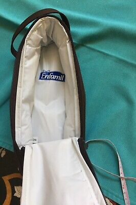 ENFAMIL Baby Bottle Travel Carrier Case Brown Zippered Insulated Portable