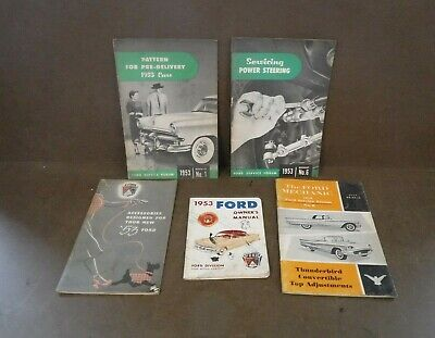 1950s FOrd Booklets, Instruction Manuals, Sales Brochures & Owners Manuals