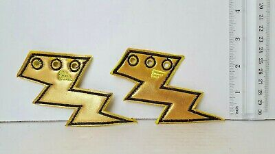 My Little Pony Lighting Dash Lighting Bolts Embroidered Patch, NEW UNUSED Pair