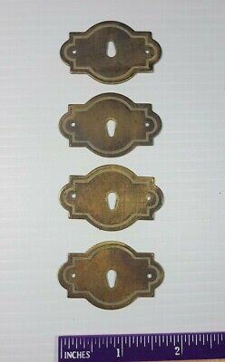 Lot Vintage Hardware Brass Key Hole Lock Escutcheon Cover Plate Antique keyhole