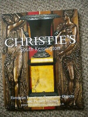 Christie's Auction catalogue European Furniture and Decorative Objects and Frame