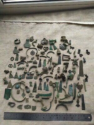 Collection of ancient jewelry.Medieval decorations 9th-12thcentury Vikings-Slavs