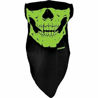 Schampa Half-Face Stretch Mask Glow Skull 14-148J