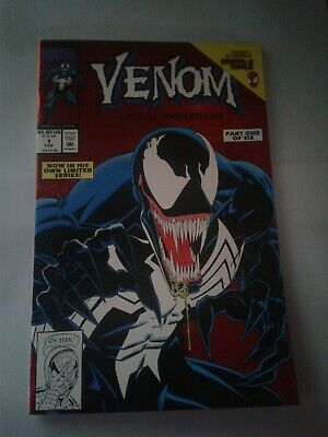 Venom Lethal Protector #1 ~ 1993 ~ Marvel Comics Red Foil ~ High Grade